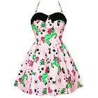 Hell Bunny I Heart Zombies Pink Rare Sold Out Mini Zombie Party Prom Dress