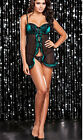 Black Babydoll Padded UnderWire Lingerie Dress Plus Size 8 10 12 14 16 18 K199