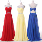 Unique~Beaded Bridesmaid Homecoming Ball Gown Cocktail Evening Long Prom Dresses