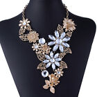 Fashion Charm 3D rose flower cluster leaf statement choker necklace Jewelry New