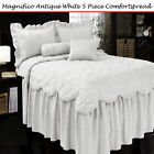 5 Pce MAGNIFICO Bedspread attached Valance + 2Pcases +2Cushion DOUBLE QUEEN KING