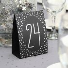1-40 Gold Or Silver Polka Dot Tent Style Bridal Shower Wedding Table Numbers