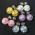 Celebrity Runway Galaxy Color Crystal Double Sided Cubic Zirconia Stud Earrings