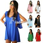 New Women Lady Summer Casual Party Short Mini Loose Tops Shirt Dress Blouse