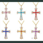 Morden Gold Fashion Women Branch Pendant Charm Chain Cross Necklace Hot Jewelry