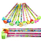 Lot Cartoon Eraser Pencil Wood Toy Kid Party Favor Supply Bag School Prize Gift
