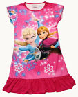 Disney Frozen Elsa Anna Olaf Child Kids Girl Pajama Nightgown Dress Hot Pink 3-9