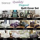 3 Pce Quality Quilt Doona Duvet Cover Set by Bianca QUEEN KING