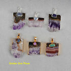 Similar Item 1Pcs Hot Rare Amethyst Druzy Slice Pendant Golden / Silver HY145