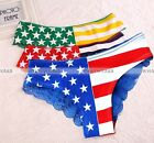Free Shipping Lady's Sexy Lace Underwear Women Fashion Cotton Flag Panties GBW