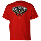 adidas New Orleans Pelicans Full Primary Logo T-Shirt - Red