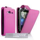HTC Wildfire S Best Quality PU Leather Flip Cases - With Free Screen Protector