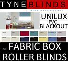 The FABRIC BOX - UNILUX PVC BLACKOUT made to measure ROLLER BLINDS straight edge