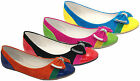 Ladies Flat Women Bow Trim Ballerina Loafers Dolly Pump Ballet Slip On Shoes 3-8