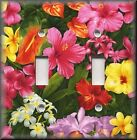 Switch Plates And Outlet Covers - Bright Tropical Flowers - Home Decor