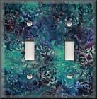 Switch Plates And Outlet Covers - Batik Floral - Purple Blue - Home Decor