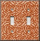 Switch Plates And Outlet Covers - Vintage Rosette - Orange Rose - Home Decor