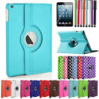 For Apple iPad 2/3/4 360 Rotating PU Leather Case Wake/Sleep Smart Cover Stand