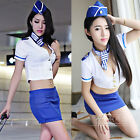 Womens' Cool Stewardess Uniform Fancy Hostess Cosplay Outfit Costume Size l/XL