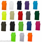 Just Cool Gym Sports Vest  Plain Tank  Top Singlet - JC007 - 19 Colours - S-XXL