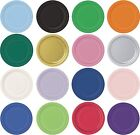 """9"""" & 7"""" ROUND Paper PLATES  Plain Solid Colours Birthday Party Tableware"""