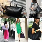 Women Girl PU Leather Handbag Tote Shoulder Bag Large Capacity Fashion Shopping