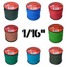 Micro Paracord 1/16? (2mm) 85lb Tensile Strength 300 ft Spools Various Colors