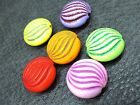 7x14mm 25/50/100grams ASSORTED COLORS ACRYLIC BEADS CW6530