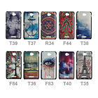 For Sony Xperia E4 Art Design Hard Rigid Plastic Back Protective Skin Case Cover