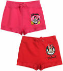 Girls Disney Minnie Mouse Jersey  Shorts Kids Pink Red New Age 2 4 6 8 Years