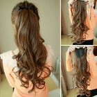 High quality ponytails clip in hair extensions brown blonde black mix colors 1P9