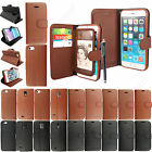 New Leather Flip Wallet Stand Case Cover For Apple Samsung Mobile Phones+Stylus