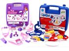 NEW CHILD KIDS DOCTOR NURSE CARRY CASE MEDICAL KIT PLAY SET BLUE / PINK COLOUR