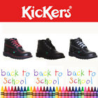 Authentic Original Kickers Kick Hi High Mens Boys Back to School Shoe Boot Black