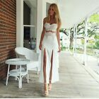 Sexy Womens Sleeveless Prom Ball Cocktail Party Dress Formal Evening Gown White