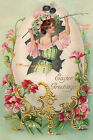 LADY WITH AN EASTER EGG Vintage Postcard Photo, Blank Card Or Print EA007