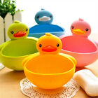 Plastic Duck Suction Cup Bathroom Accessory Shower Toothbrush Soap Dish Holder