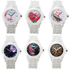 Stylish Silicone Rubber Jelly Gel Quartz Analog Sports Women Wrist Watch Gift
