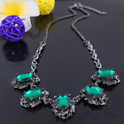 Fashion Charm Womens Chunky Statement Crystal Chain Pendant Necklace Collar Gift