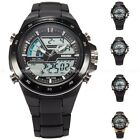 SKMEI Mens Digital Dual Time Date Alarm Stopwatch Rubber Silicone Sport Watch