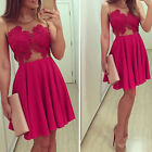 Fashion Womens Lace Bra Off Shoulder Backless Evening Party Bodycon Mini Dress