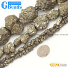 Natural Silver Gray Pyrite Gemstone Freeform Loose Beads Free Shipping 15""