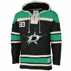 Men's Dallas Stars Old Time Hockey Black Home Lace Heavyweight Hoodie