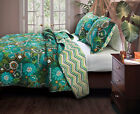 Greenland Home Fashions Tiki Hut Island Floral Quilt Set
