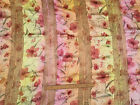 Multi dimentional sateen & cotton with sequins : 100x150cm wide remnant,