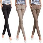 Ladies Skinny Jeans Office Trousers Cargo Womens Jeggings Pencil Pants Size
