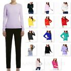 Cashmere Jumper Womens Crew Neck Wool Pullover Ladies Cardigan Pure Sweater Size