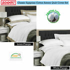 Quality 500TC Egyptian Cotton Tailored Quilt Cover Set QUEEN KING Super King