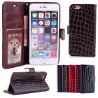 Genuine Magnetic Flip Wallet Leather Stand Case Cover For iPhone Various Phone