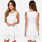 Women Summer Casual Splice Sleeveless Party Evening Short Mini Dress Unique
